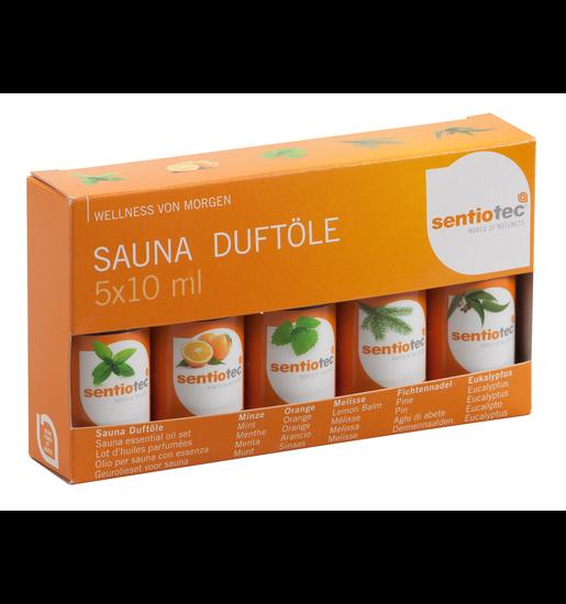 Sentiotec Sauna Duftölset , 5 x 10 ml A-508-B