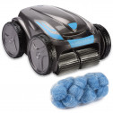 Zodiac Vortex OV 3480 Poolroboter mit time4wellness Poly Filter Compact Tube 18 Kugeln