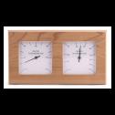 Sentiotec Thermo-Hygrometer Quadrat aus Espenholz