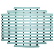 New Technology Bodenmatte oval für Sonnendusche Farbe: grau