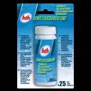 hth - Teststreifen -  Cl/pH/TAC/br/Stab/TH - 25 Stk.