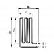 EOS Heizstab 2000 Watt für Saunaofen