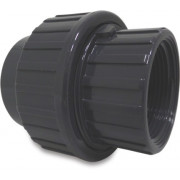 "Mega Verschraubung PVC-U 50 mm x 1 1/2"" Klebemuffe x Innengewinde 10bar Grau"