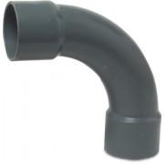 Mega Bogen 90° PVC-U 50 mm Klebemuffe 10bar Grau Typ aus Rohr hergestellt