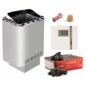 Saunaofen Set Sentiotec Nordex 8 kW mit EOS Econ D2 time4wellness Saunasteuerung und Steine