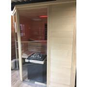 Sentiotec Sauna Style Massiv 40mm Saunakabine Ausstellungsstück