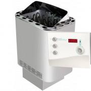 Sentiotec Nordex 8 kW mit K2 Saunasteuerung und Steine