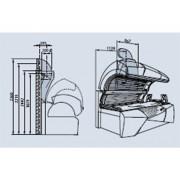 Zentralabluftstutzen 150 mm Ø ohne Wärmeluftrückführung