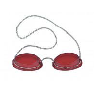 Solarium Schutzbrille Standard Rot