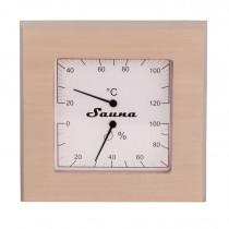 Thermo-Hygrometer Quadratisch aus Espenholz