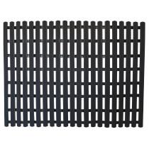 PVC Fußbodenmatte 60 x 80 cm schwarz