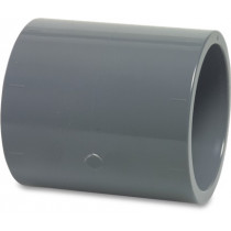 Mega Muffe PVC-U 50 mm Klebemuffe 16bar Grau