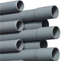 Druckrohr PVC-U 50 mm x 2,0 mm Klebemuffe x Glatt 7,5bar Grau 5m