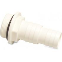 """Schlauchtülle ABS 1 1/2"""" x 32-38 mm Außengewinde x Schlauchtülle 10bar Weiß"""