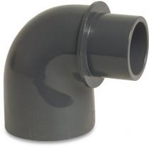 Mega Winkel 90° PVC-U 40/50 mm x 50 mm Klebemuffe/Klebestutzen x Klebemuffe 10bar Grau