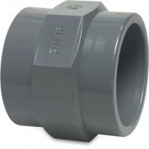 "Mega Gewindemuffe PVC-U 50 mm x 1 1/2"" Klebemuffe x Innengewinde 10bar Grau"