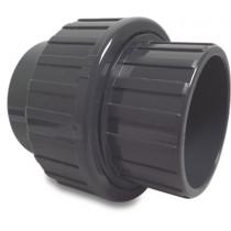 Mega Verschraubung PVC-U 50 mm Klebemuffe 16bar Grau