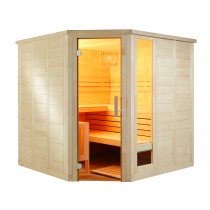 Sentiotec Komfort Corner Large  Massivsauna by Domo