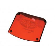 New Technology Kopfpolster Acrylkopfstütze rot-transparent
