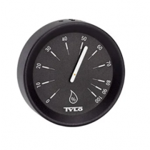 Tylö Hygrometer Brilliant Matt Black - 100x100x25