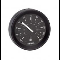 Tylö Thermometer Brilliant Matt Black - 100x100x25 mm