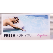 """Ergoline Aufsteller """"Für Sie frisch desinfiziert"""" mit Logo"""