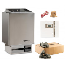 Sauna-Set EOS 34.A 6 kW Saunaofen mit Steuerung EOS Econ D1 und Steine time4wellness Verpackung