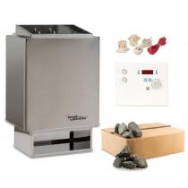 Sauna-Set EOS 34.A 7,5 kW Saunaofen mit Steuerung Sentiotec K4 und Steine time4wellness Edition
