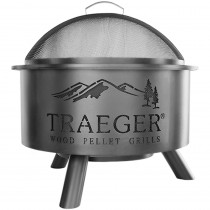 Traeger Outdoor Feuerschale mit Grillrost und Deckel