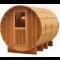 Saunafass Sylt mit Vorraum Zeder Rustikal