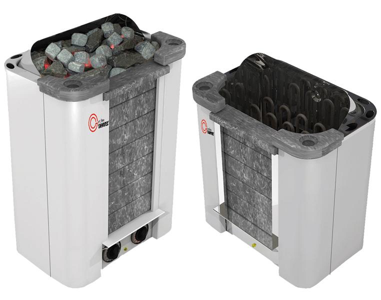 Sentiotec Cumulus Specksteinofen mit integrierter Steuerung 8,0 kW CML-80NB-P