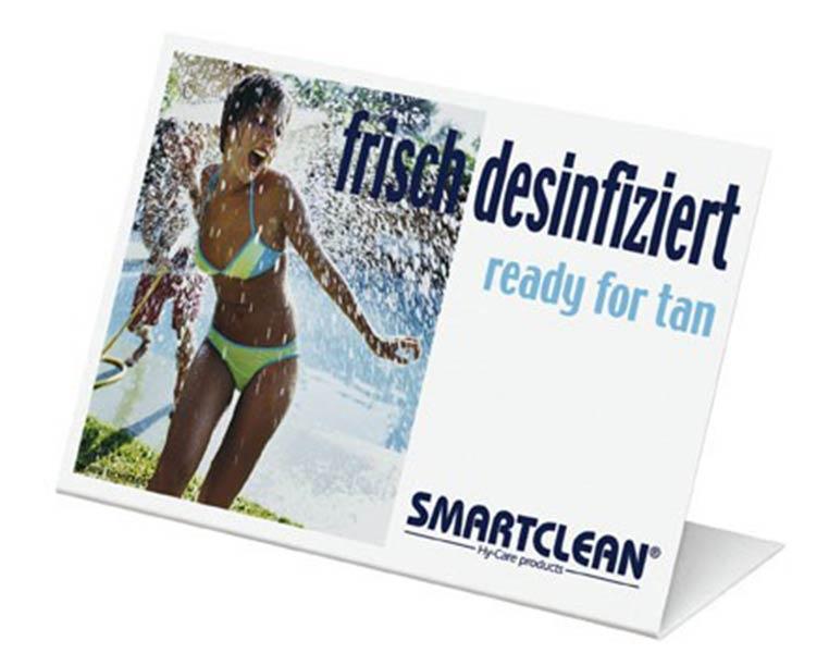 "New Technology Smartclean Aufsteller ""frisch desinfiziert"" mit Logo 500108"