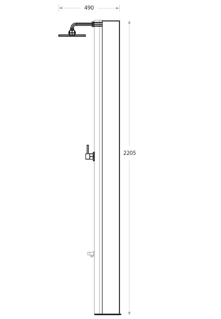 solardusche inox 40 l gartendusche dusche edelstahl solar ebay. Black Bedroom Furniture Sets. Home Design Ideas