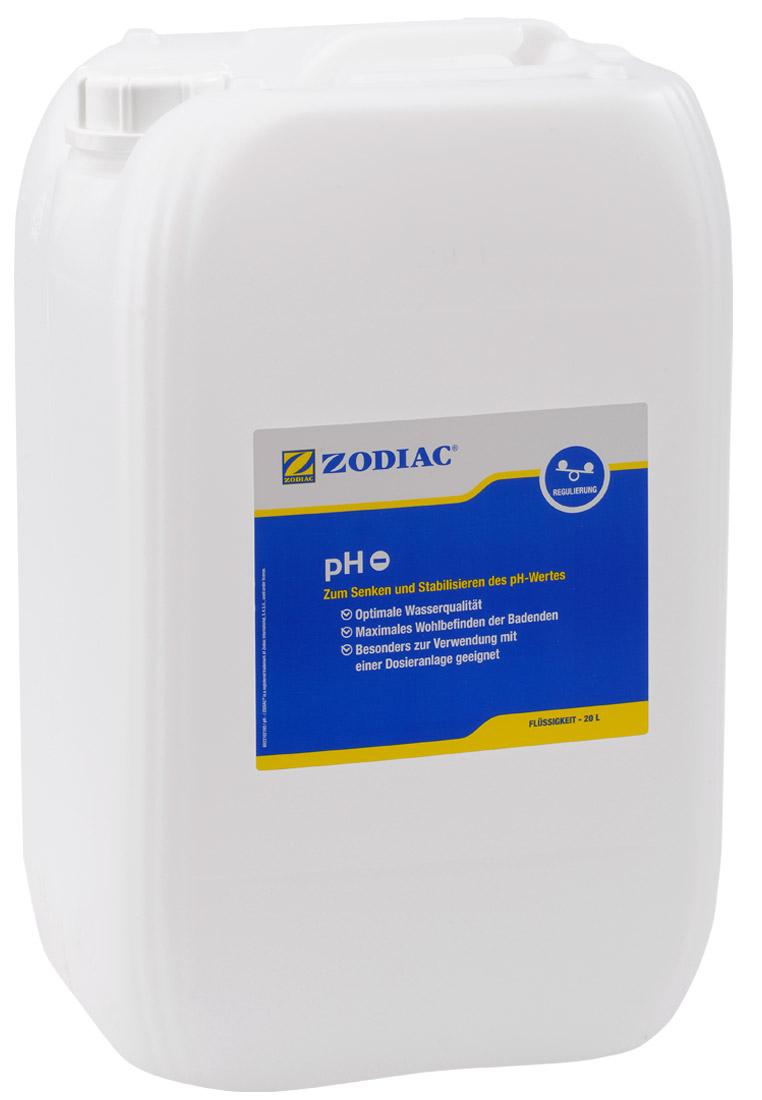 Zodiac pH-Minus Flüssigkeit senkt den pH-Wert 20 Liter W400010