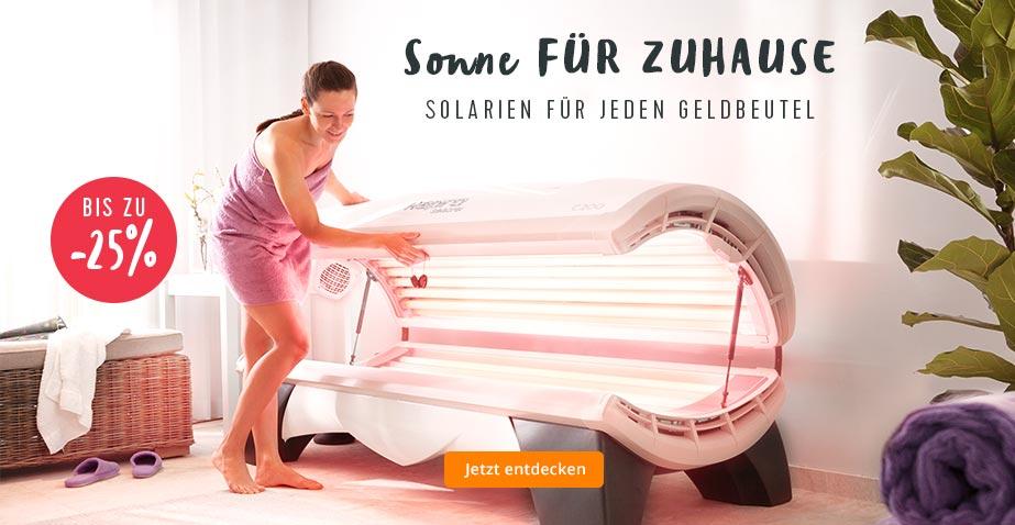 Solarium kaufen: Finden Sie das passende Heimsolarium in jeder Preisklasse...
