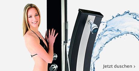 Solardusche kaufen – warm duschen im Garten